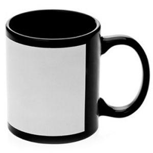 Black Panel Mug